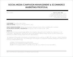 Social Media Proposal Template Speaker Proposal Template Unique Social Media Campaign