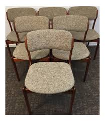 erik buch walnut dining chairs for od mobler set of 6 8649