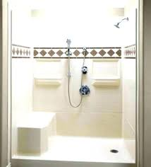 32 x 32 shower shower stall fiberglass with hand held head and built in bench sterling 32 x 32 shower