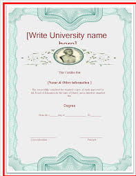 degree certificate templates free university degree certificate template templates at