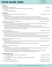 Templates Resume Adorable 48 Best Resume Templates For Students R Sum Samples On Gonzaga