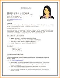 Form Of Resume For Job Job Resume Form Emberskyme 14