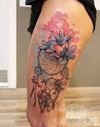 Dream Catcher Tattoo On Thigh 100 Dreamcatcher Tattoo Designs nenuno creative 65