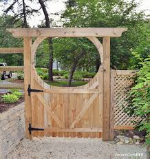 Small Picture Back of DIY arbor gate How to build a wood gate for your fence