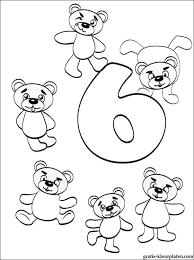 Nummer 6 Kleurplaat Cijfer 6 Zes Gratis Kleurplaten