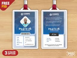 Company Id Card Template Corporate Identity Card Psd Template Psd Zone