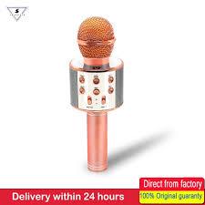 WS858 Micro Hát Karaoke Không Dây Loa Bluetooth Di Động Nhà KTV Ca Hát Cầm  Tay & Nghe Nhạc Mic Dành Cho Ios Android Điện Thoại|microphone  portable|wireless karaoke microphonekaraoke microphone - AliExpress