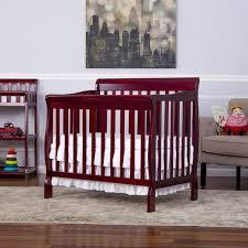Dream On Me Aden Convertible 4-in-1 Mini Crib - Cherry