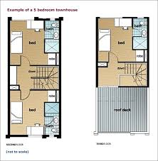 townhouse living example of a five bedroom townhouse l to r second level