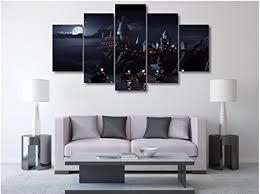 hogwarts 5 pieces wall art canvas prints