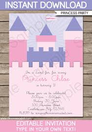 make your own frozen invitations princess birthday party invitations template