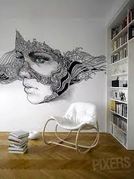 Mask Cool Wall Art Ideas Easy Fabulous Boredart Home Brown Wooden Floor  Chair Books