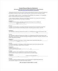 It Objectives For Resume Profession Goal Resume Examples Career