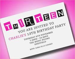 Free 13th Birthday Invitations Invitations For Teenage Girl Birthday Party Magdalene