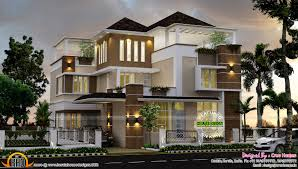 amazing luxury ultra modern homes with home kerala keralahousedesigns villa design plan house super small designs contemporary townhouse plans one floor new