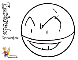 68 Pokemon Electrode Coloring Pages Book