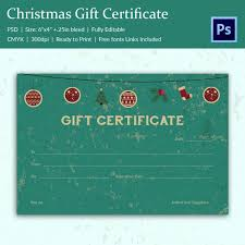 Printable Christmas Certificates Christmas Gift Certificate Templates 100 PSD Format Download 37