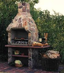 image of outdoor stone fireplace kits ideas