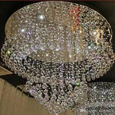 new design flush mount crystal chandelier modern led lamp dia80 h120cm res living room chandelier hotel lights canada 2018 from daisy8814