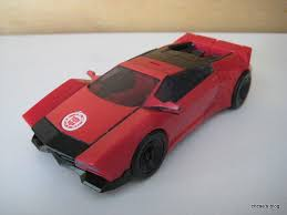 red sport car transformer