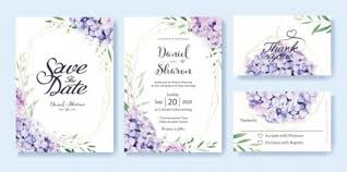 Free Vector Wedding Invitation Card Template H69 Design