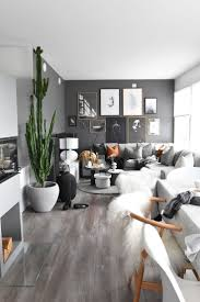 incredible gray living room furniture living room. Dark Grey Black Wall Living Room Idea With Indoor Plants And Amazing Art | Loungeroom Pinterest Incredible Gray Furniture