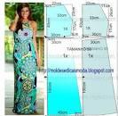 Выкройка летнего платья по косой 154