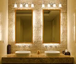 Bronze Mirror Bathroom Curved Corner Wall Mount Medium Mirror Bathroom Mirrors And