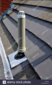plumbing roof vent. Plastic Soil Vent Stack At Roof - Stock Image Plumbing