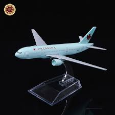 Ornament Display Stand Canada Extraordinary WR Air Canada Mini Airplane Model New Year Decor Airline Airplane