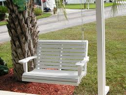 Furniture Decorating Exciting Wooden Porch Swings Design With