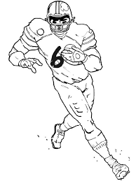 Small Picture Football player coloring pages running the ball ColoringStar