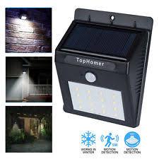 Solar Powered PIR Motion Sensor LED Wall Light Outdoor Garden Solar Led Wall Lights