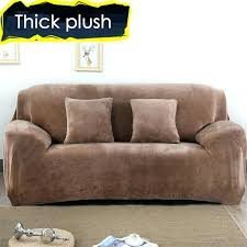 sure fit stretch leather piece sofa slipcover brown sure fit plush sofa slipcover