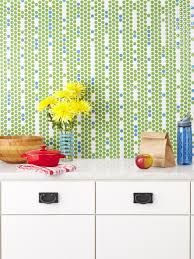 green and few blue penny tiles