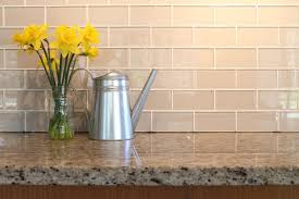 Kitchen With Glass Tile Backsplash Beauteous Country Cottage Light Taupe 48x48 Glass Subway Tiles Bennington