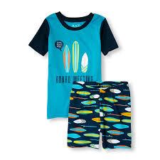 boys sleepwear the children s place off boys short raglan sleeve board meeting top and surfboard print shorts pj set