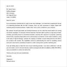 Excellent Entry Level Marketing Cover Letter 10 Formal Cover Letter
