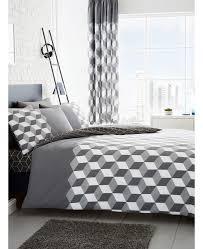 cubix geometric king size duvet cover