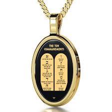 nano style ten commandments pendant