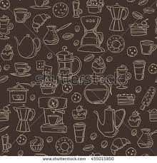 seamless chalkboard style background with coffee and breakfast line icons find this pin and more on recipe book