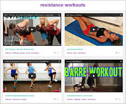 a curated selection of free fitness and exercise videos