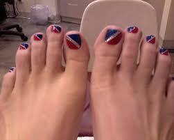 Patriotic Pedicure Toe Nails, Long Toe Nail Long, pointed toe ...