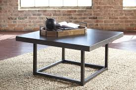 ashley furniture starmore metal base square coffee table with wood top asht