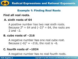 because 2 6 64 and 2 6 64 the roots are