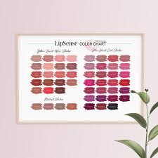 Lipsense Colors Chart Lipsense Color Chart Top 50 Colors 50 Lipsense Colors Lipsense Poster Digital Download