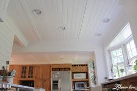 faux beam faux wood ceiling