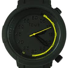 french connection black fleet designer mens quartz watch fc1164b