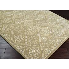 surya candice olson modern classics pale green designer area rug 3 3 x 5 3