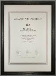 a3 black certificate frame